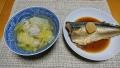 さばの醤油煮 鶏団子と白菜のスープ 20191011