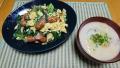 粕汁 小松菜とソーセージの玉子炒め 20191127