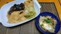 鶏の柳川 白菜としいたけの煮物 20191202