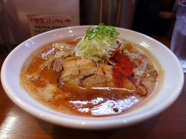 ひるドラ 鶴橋店@01辛口炙り肉ソバ『味噌』 1