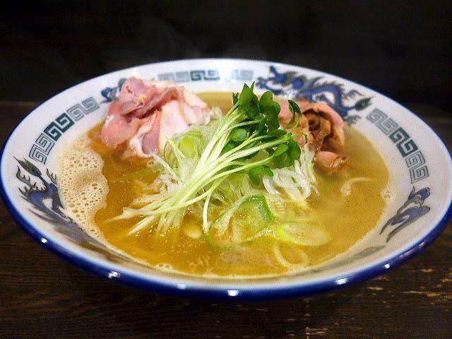 自己流ラーメン 綿麺@98丸鶏海老塩細麺 1