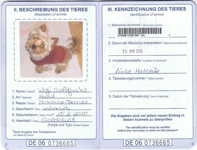 ペットパスポート ドイツ