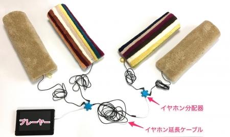 抱っこスピーカーを有線で複数接続