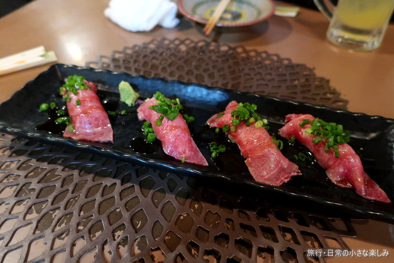 凹凸屋 石垣牛 焼肉 肉寿司