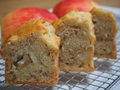 M_studiomimosaリンゴバナナケーキ