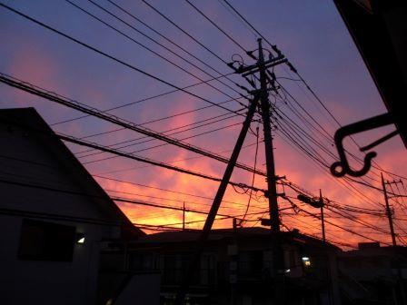 2019.7.5燃える夕焼け1