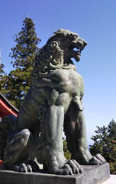 2019.10.10御嶽山神社狛狼