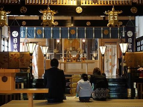 9日吉神社お参り