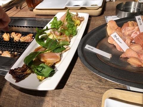 鶏焼肉料理