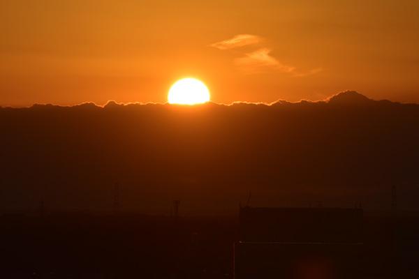 つくばセンター地区からの夕日