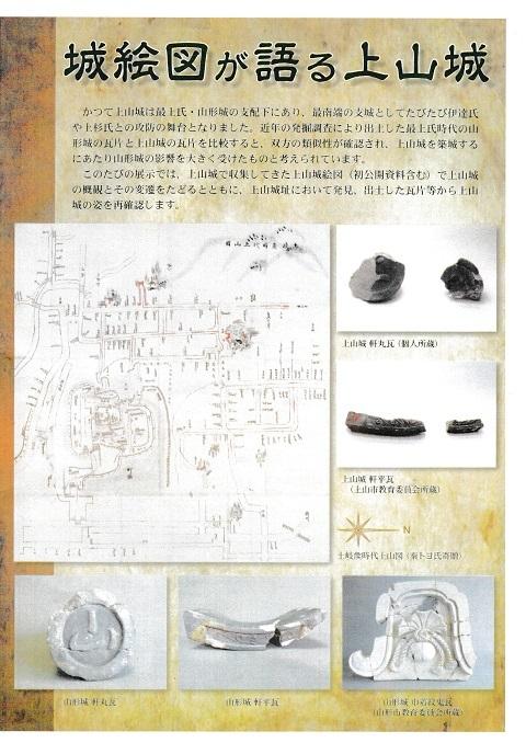 上山城絵図と瓦2019B