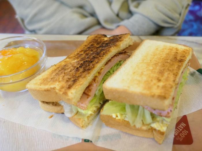 ハム&レタス&玉子サンド