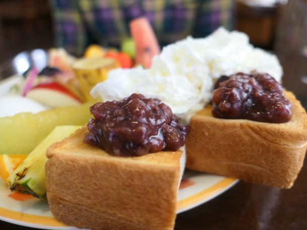 小倉ホイップトーストセット