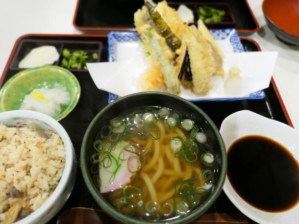 ミニ天ぷら定食