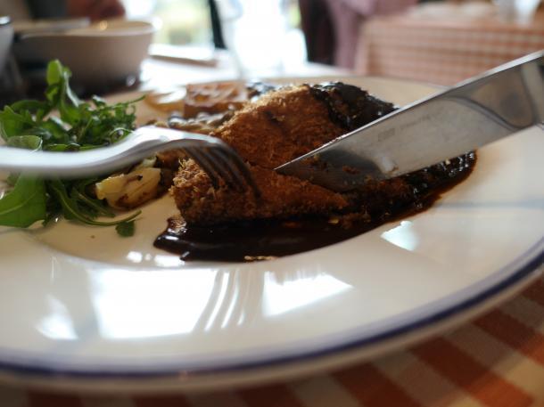 黒毛和牛モモ肉のカツレツ