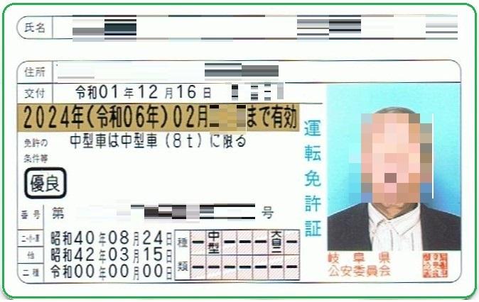ブログ運転免許証