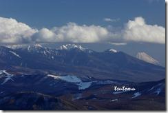 20021711S富士と八ヶ岳連峰