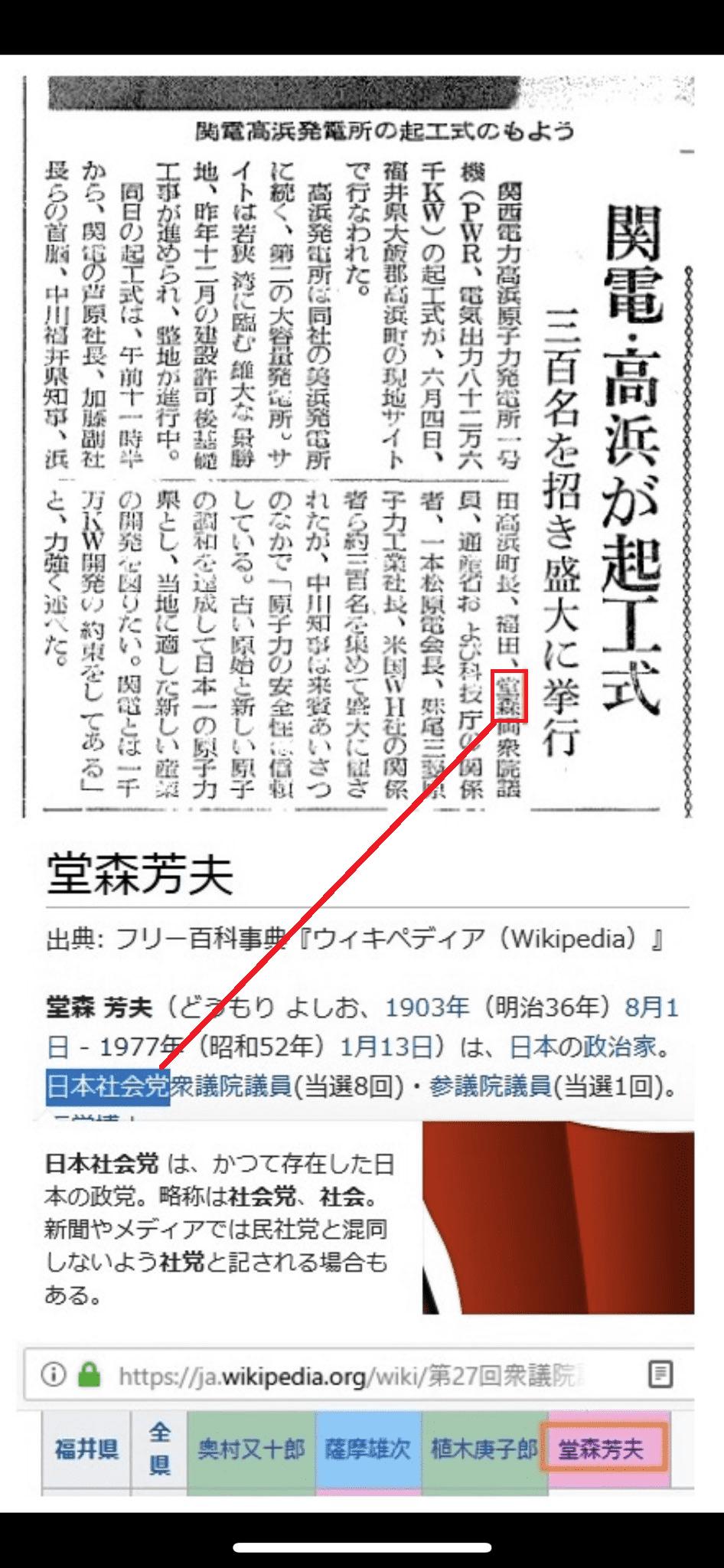 旧社会党堂森議員と高浜原発の関係 (1)