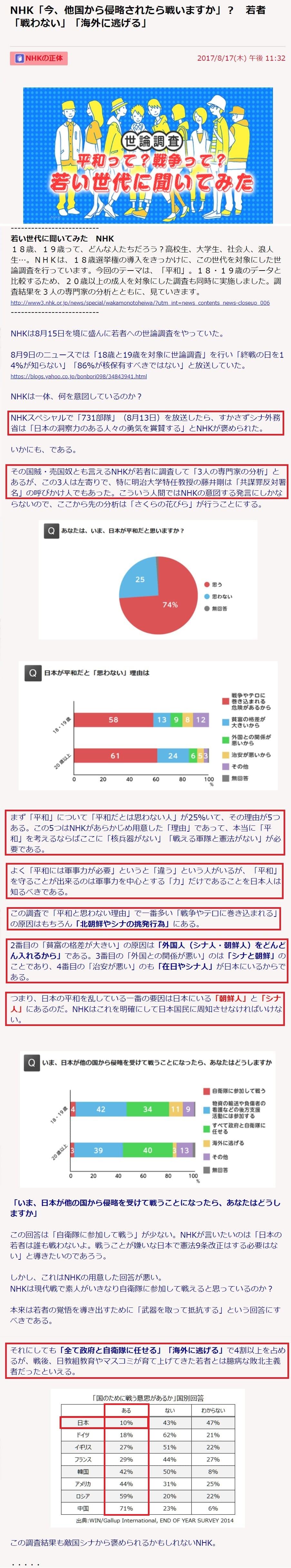 NHKによる日本人腑抜け化洗脳 (1)