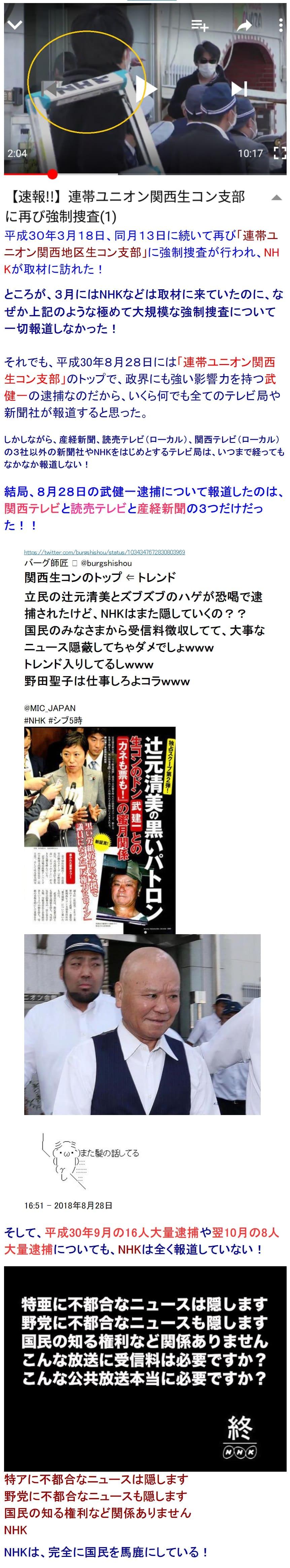 NHKは関西生コン逮捕を報道せず3 (1)