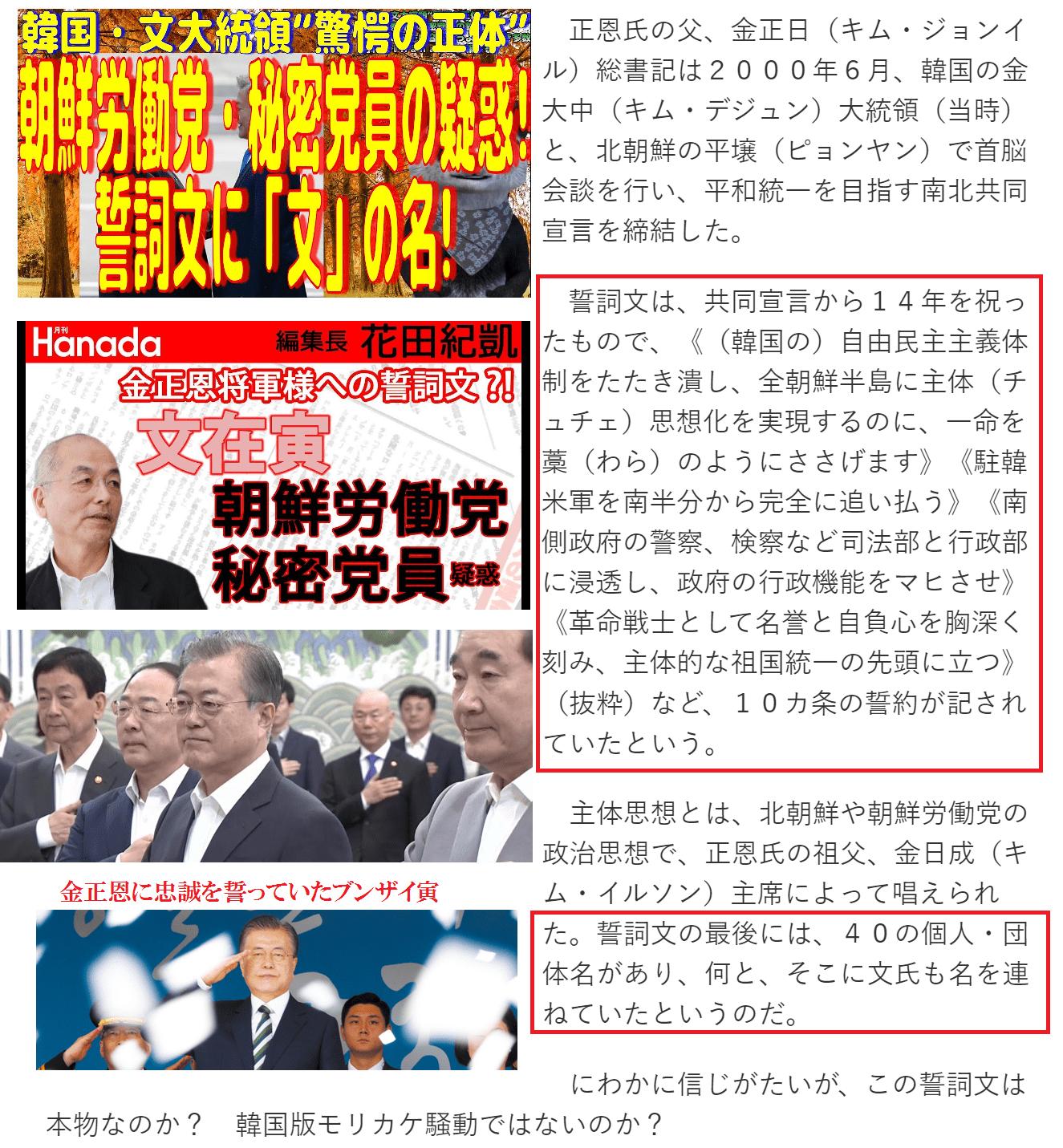 """韓国・文大統領""""驚愕の正体""""2"""
