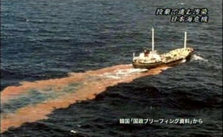 日本海を糞尿投棄で汚染する下朝鮮1