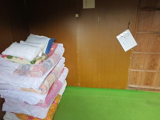 仙人池ヒュッテの部屋