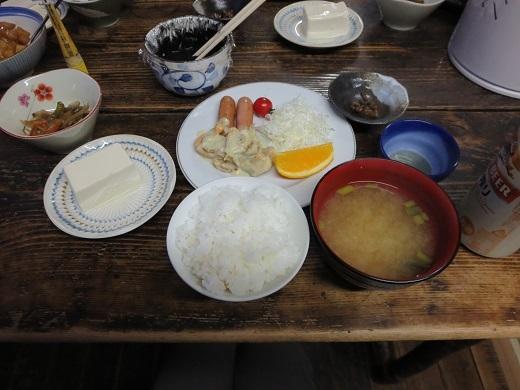 仙人池ヒュッテの夕食