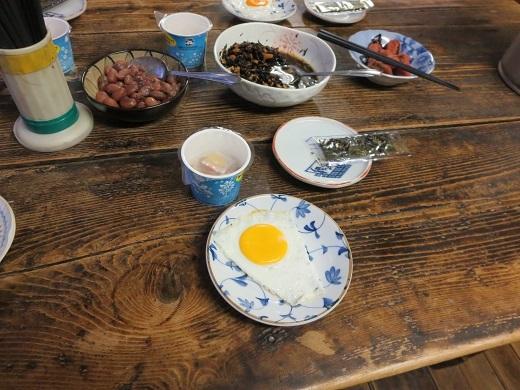 仙人池ヒュッテの朝食