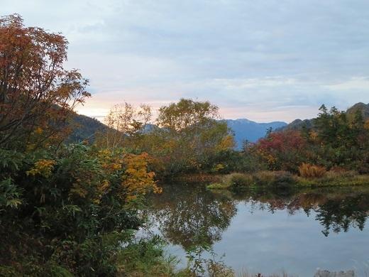 朝の仙人池