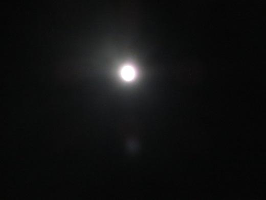 ふと見ると月が