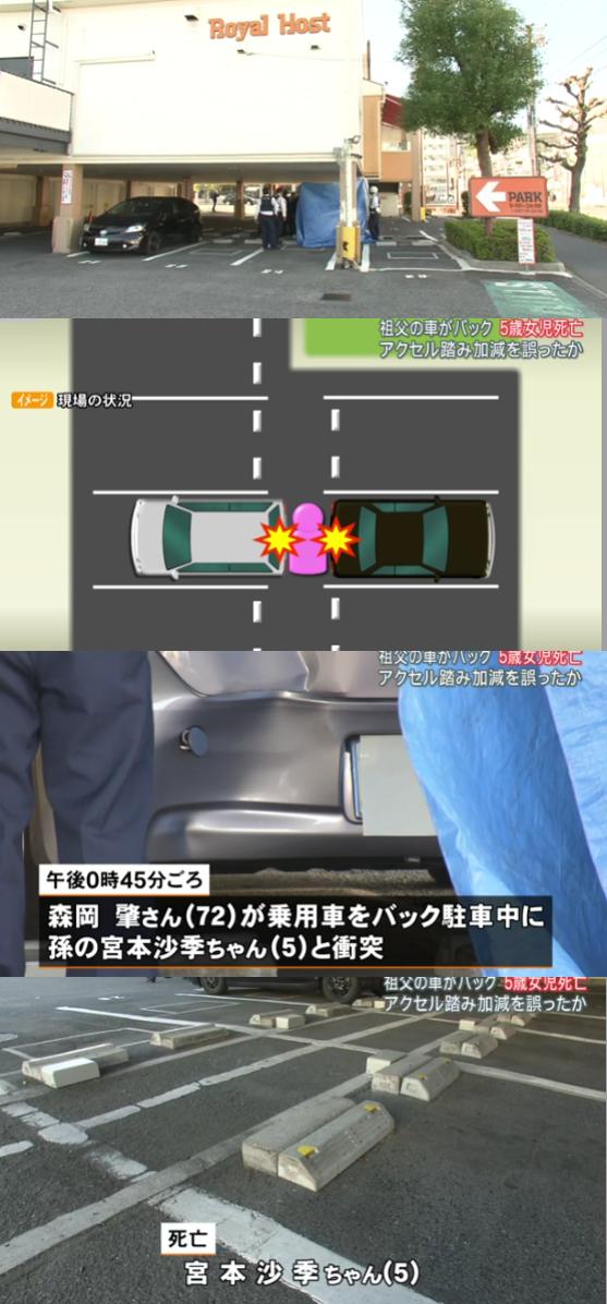 ロイヤルホスト三篠店 幼児死亡事故