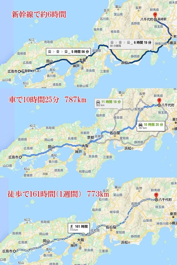 高崎~広島 交通