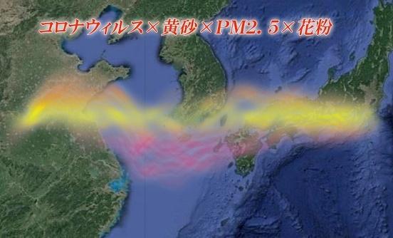 コロナウィルス 黄砂 PM2・5 花粉