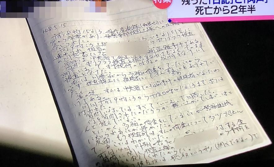 脇本警部補 平成28年5月15日日記