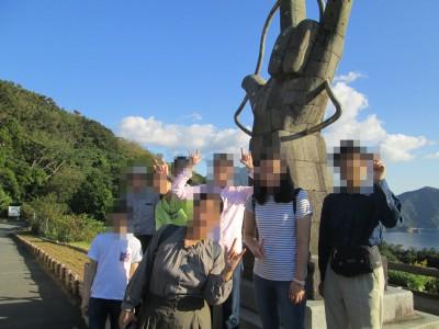 ブログ2019旅行恋人岬の像済
