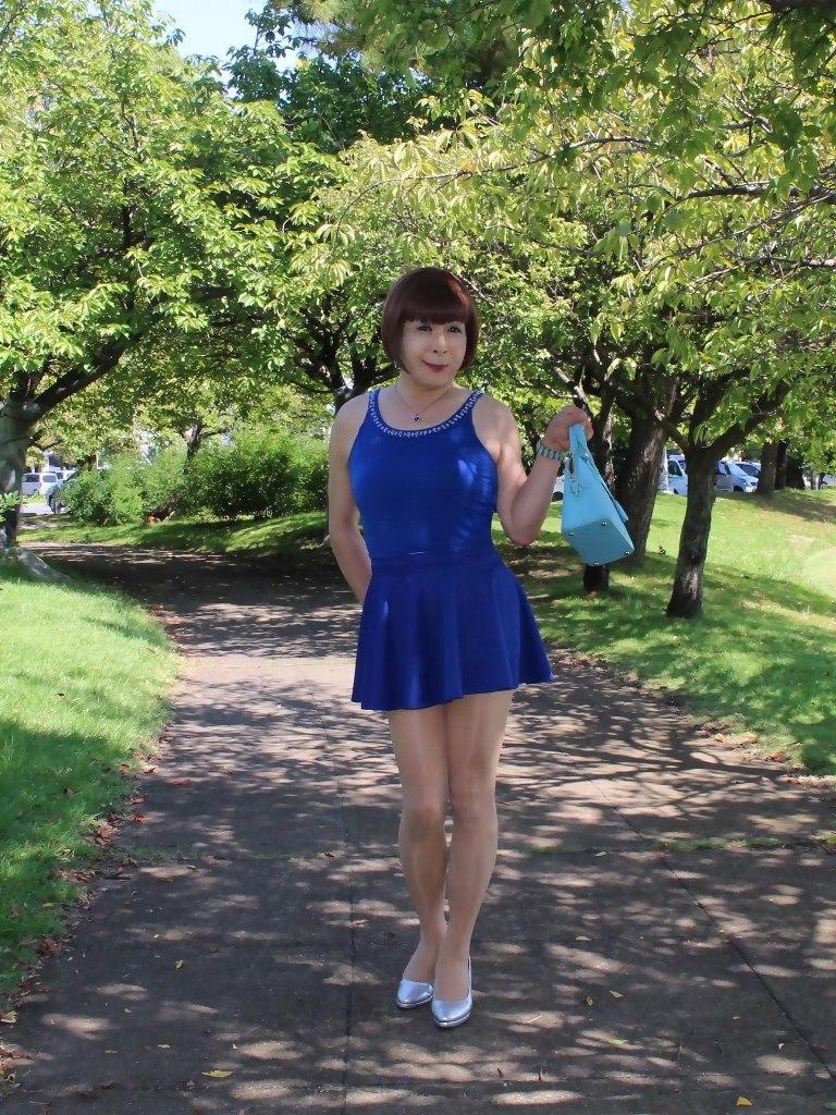青タンクトップ青フレアミニA(1)