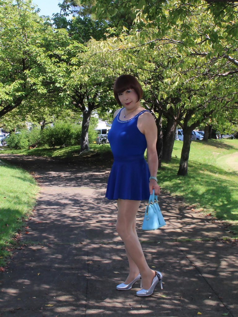 青タンクトップ青フレアミニA(3)