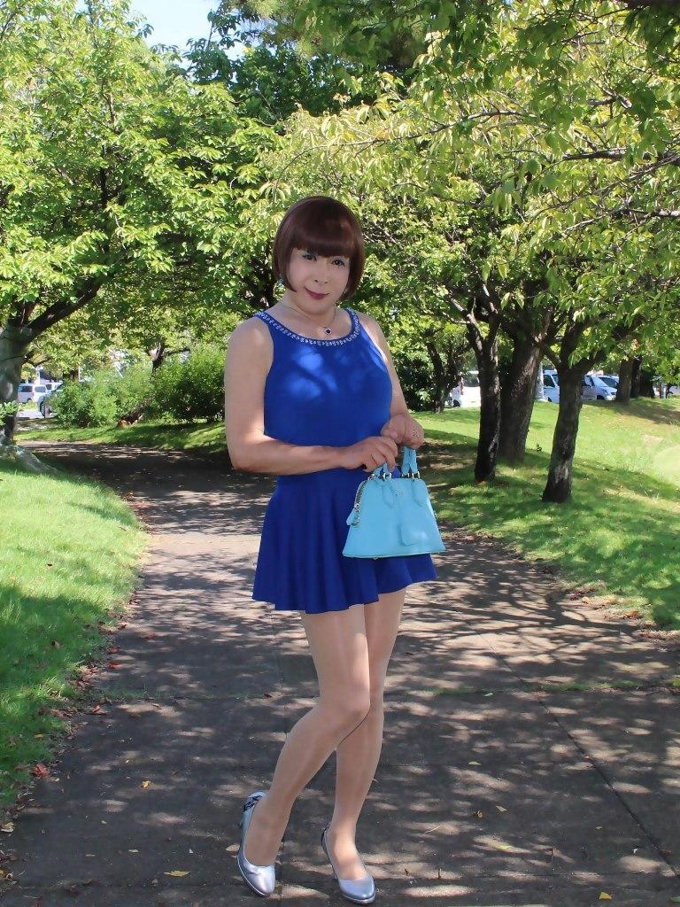 青タンクトップ青フレアミニA(4)
