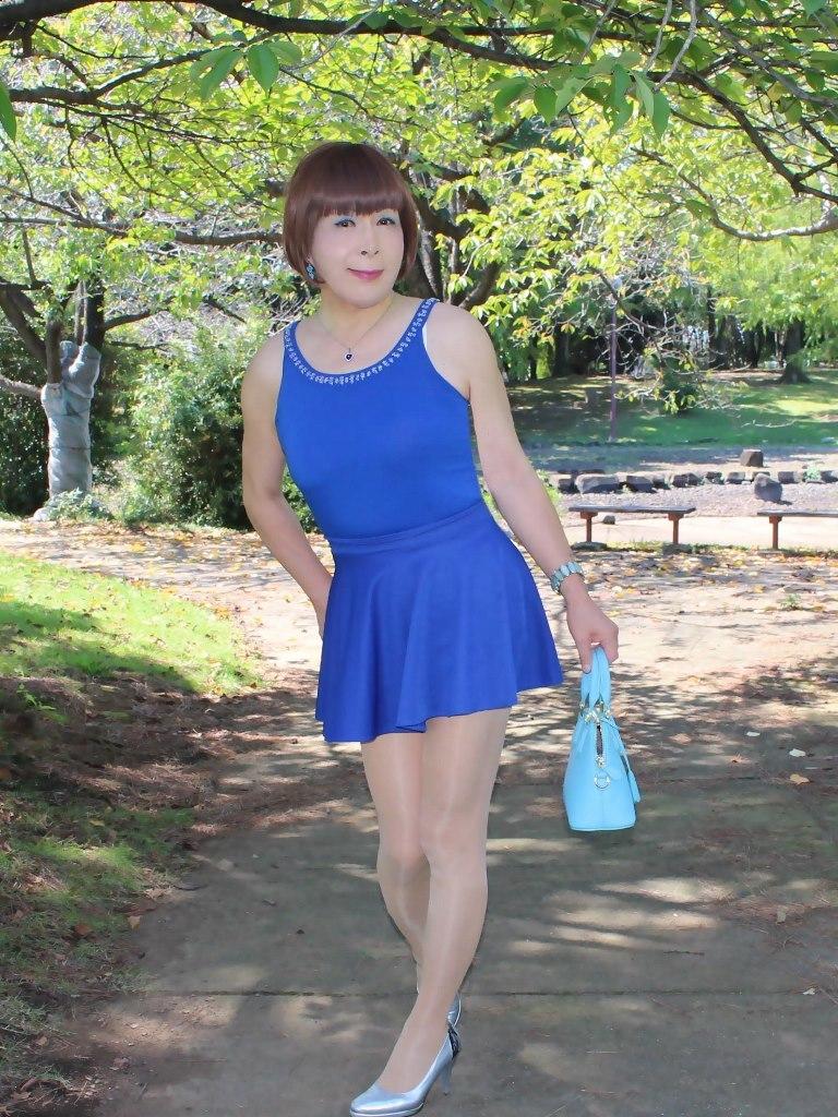 青タンクトップ青フレアミニA(5)
