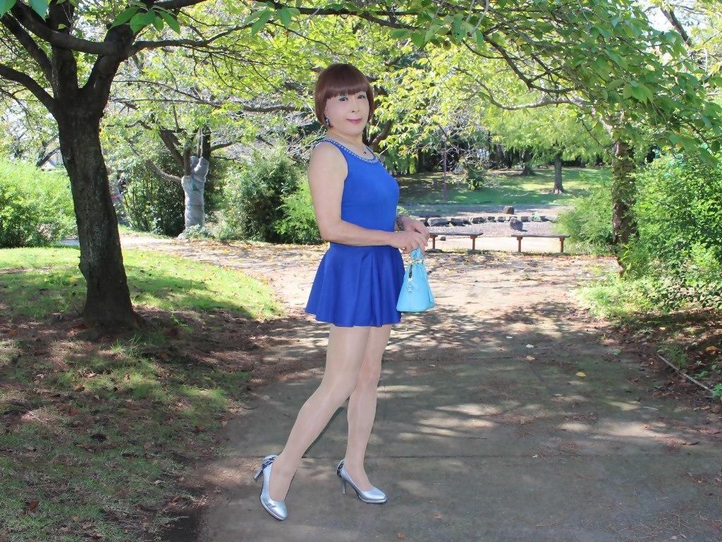 青タンクトップ青フレアミニA(6)