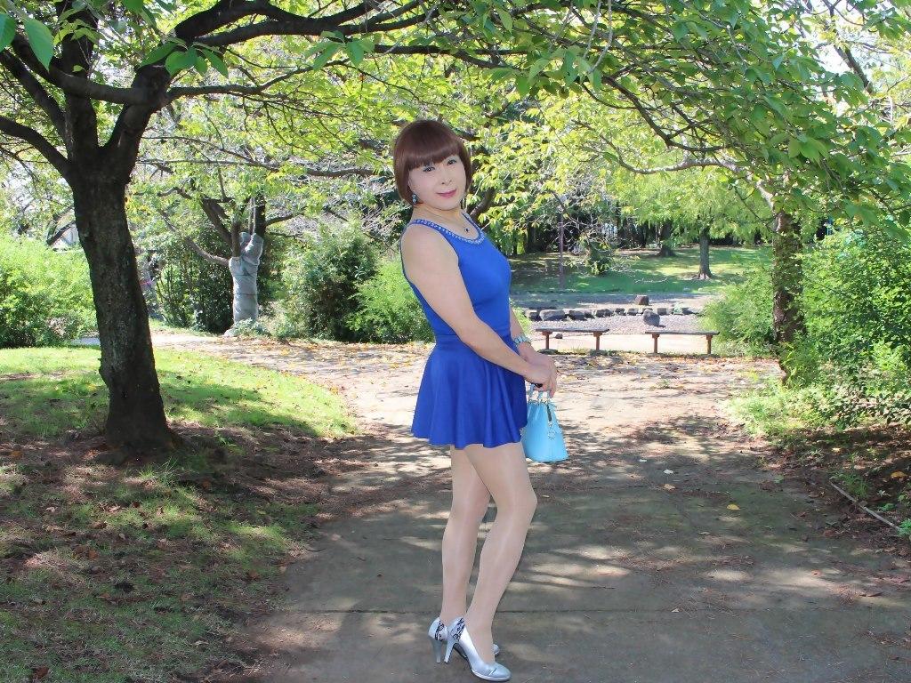 青タンクトップ青フレアミニA(8)