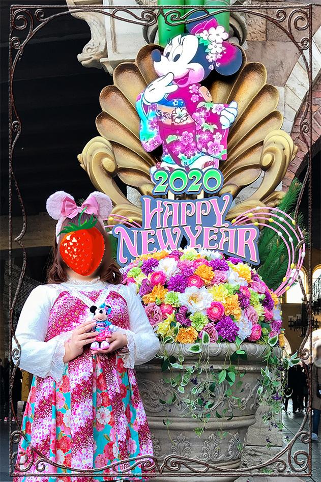 お正月コーデ/ハンドメイドワンピース1