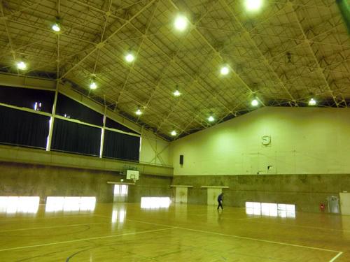 18日体育館内部