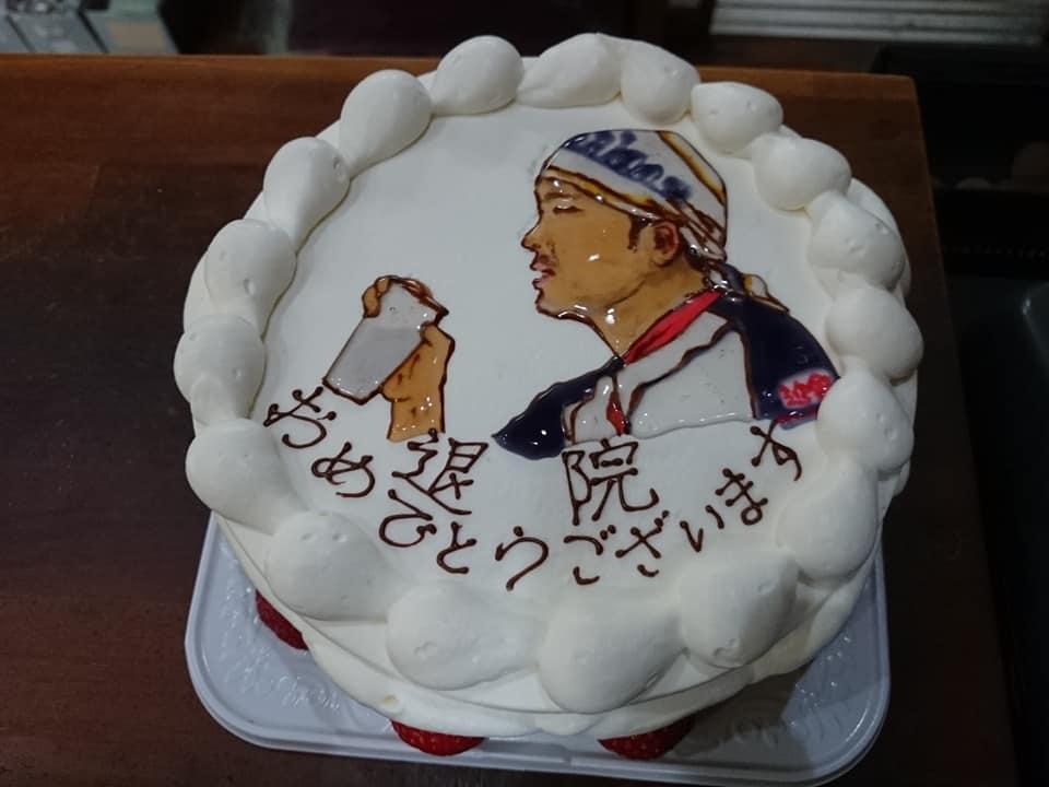 徳島 イラストケーキ お好み焼きムーンサルト