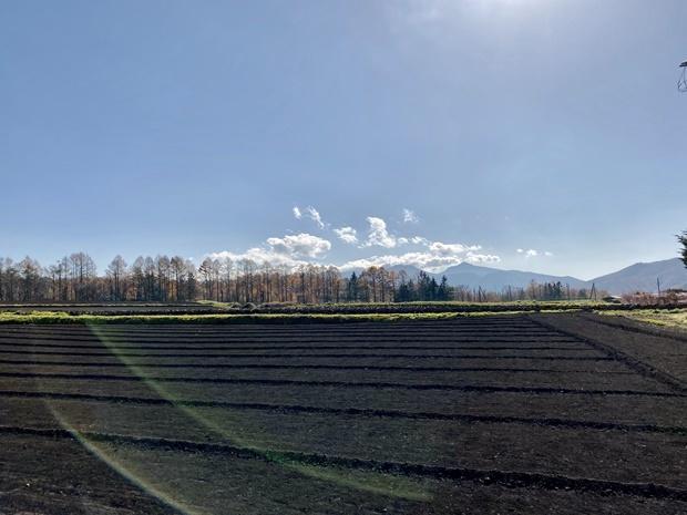 菅平高原、初冬の景色