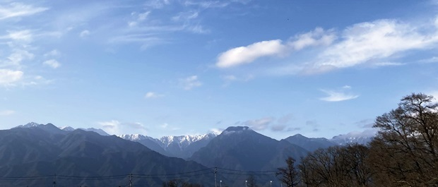 安曇野の山