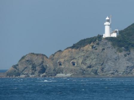 フェリーからの眺め 2 佐田岬灯台