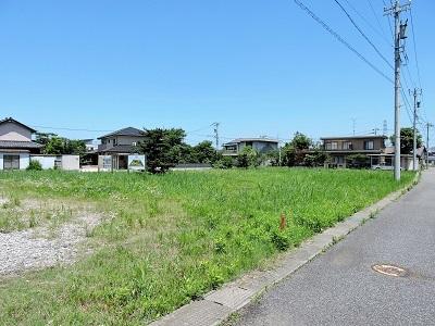 福井市石丸城の踏査(遠景)2017年7月7日