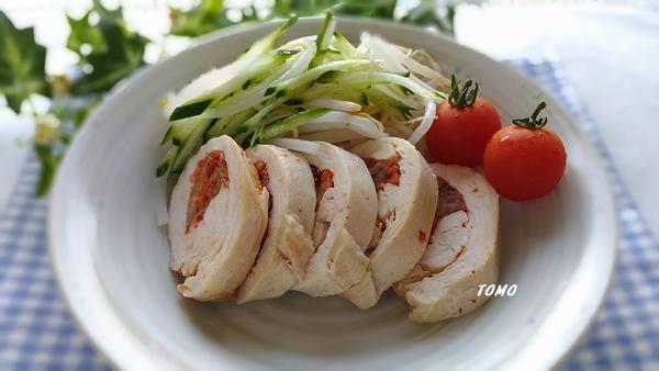 キムチの鶏肉ロール